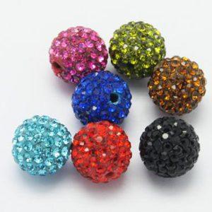 Pave shamballa beads