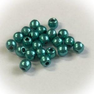 Tsekki sileä pyöreä (druk beads)